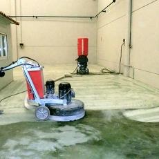 Maquina pulido de hormigón para sacar brillo como el mármol a suelos de hormigón viejo o duro