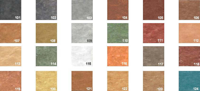 Carta de colores para pavimiento impreso e industrial