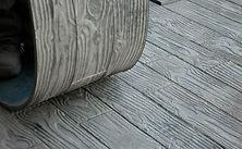 Foto de los moldes usados para el pavimento impreso
