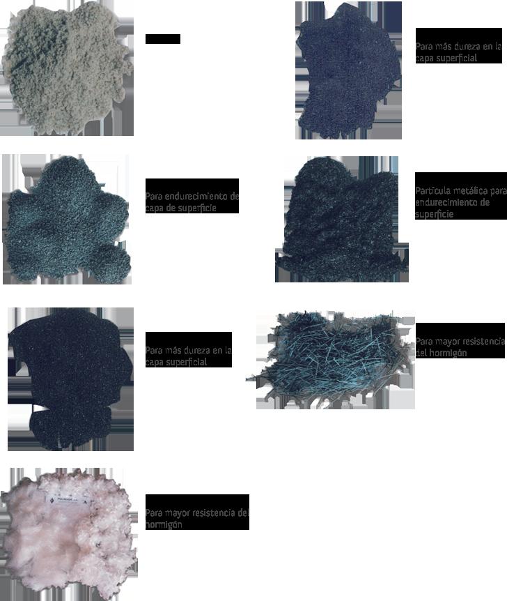 Diferentes tipos de materiales y sus acabados usados para el pavimento industrial
